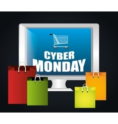 Cyber monday ecommerce shopping vector image vector image