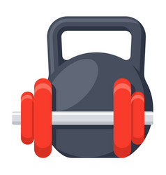 Dumbbell and kettlebell vector