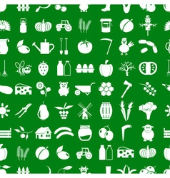 farm and farming simple icons set seamless pattern vector image