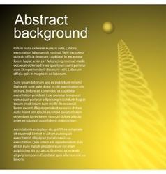 Gold jumping ball vector image