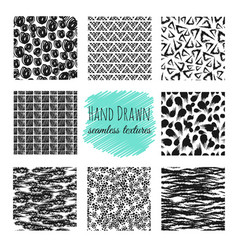 Hand drawn textures scribble squiggle ink pen vector