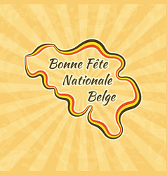 happy belgian national day greeting card for 21 vector image vector image