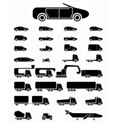 Icon set Vehicles vector image vector image