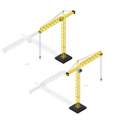 industrial crane isometric view vector image