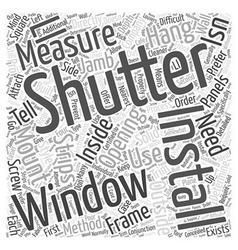 Installing shutters word cloud concept vector