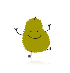 Jackfruit funny character for your design vector