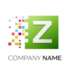 letter z logo symbol in the colorful square vector image vector image