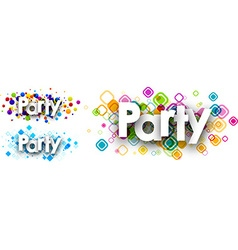 Party colour banners vector image