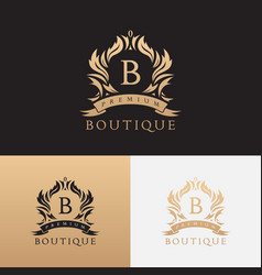 Premium boutique brand logo template vector