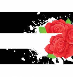 rose back vector image vector image