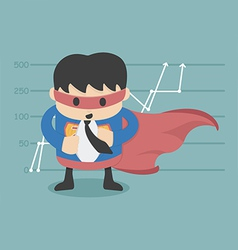 Super businessman vector