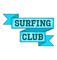 Surf club emblem icon cartoon style vector