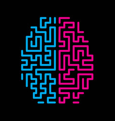 top view human brain icon vector image