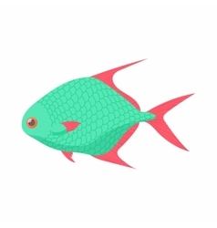 Tropical fish icon cartoon style vector image vector image