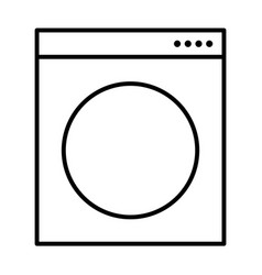 Washing machine symbol vector
