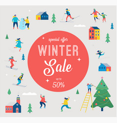 Winter sale banner and promotion design vector