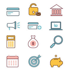 Business-icons-set vector