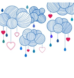 love clouds vector image