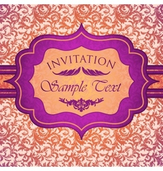 Bright vintage invitation card vector