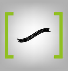 banner ribbon sign black scribble icon in vector image