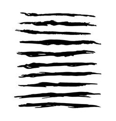 Hand drawn grunge brush strokes vector