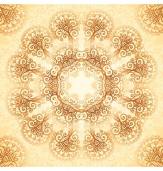 Ornate vintage circle pattern in mehndi style vector