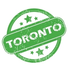 Toronto green stamp vector