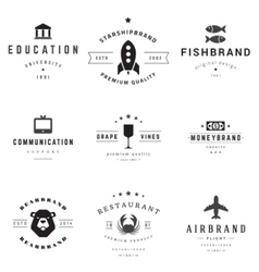 Retro logotypes set vector