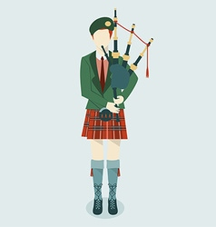 Kilt scottish vector