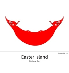 National flag of easter island with correct vector