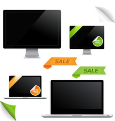 Monitor screens vector