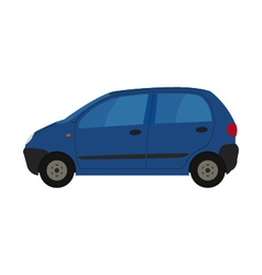 Car on white background vector