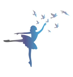 Ballet dancer isolated on white background vector