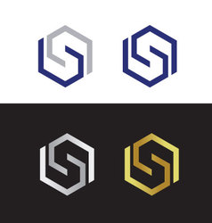 Abstract letter S vector image vector image