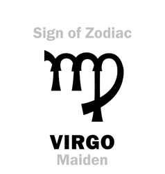 Astrology sign of zodiac virgo the maiden vector
