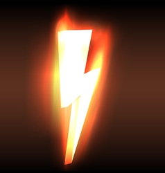 Burning blazing power lightning arrow vector image vector image