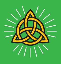 Celtic knot eternity symbol vector