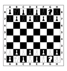 Chessboard monochrome vector