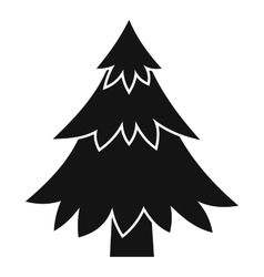 Coniferous tree icon simple style vector