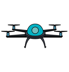drone flying technology icon vector image vector image
