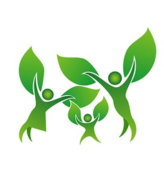 family tree symbol vector image vector image