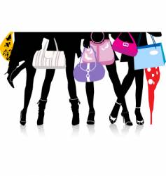 fashion hand bags and heels vector image vector image