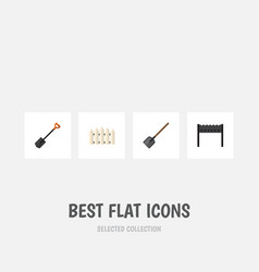 Flat icon farm set of barbecue shovel spade and vector