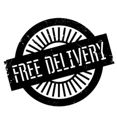 Free delivery stamp vector