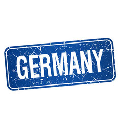 Germany blue stamp isolated on white background vector