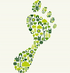 Green icons foot design vector