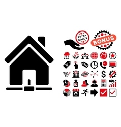 Home Internet Connection Flat Icon with vector image