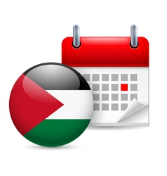 Icon of national day in palestine vector