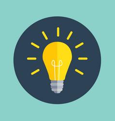 idea bulb flat design icon vector image