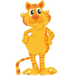 Isolated tiger vector image vector image